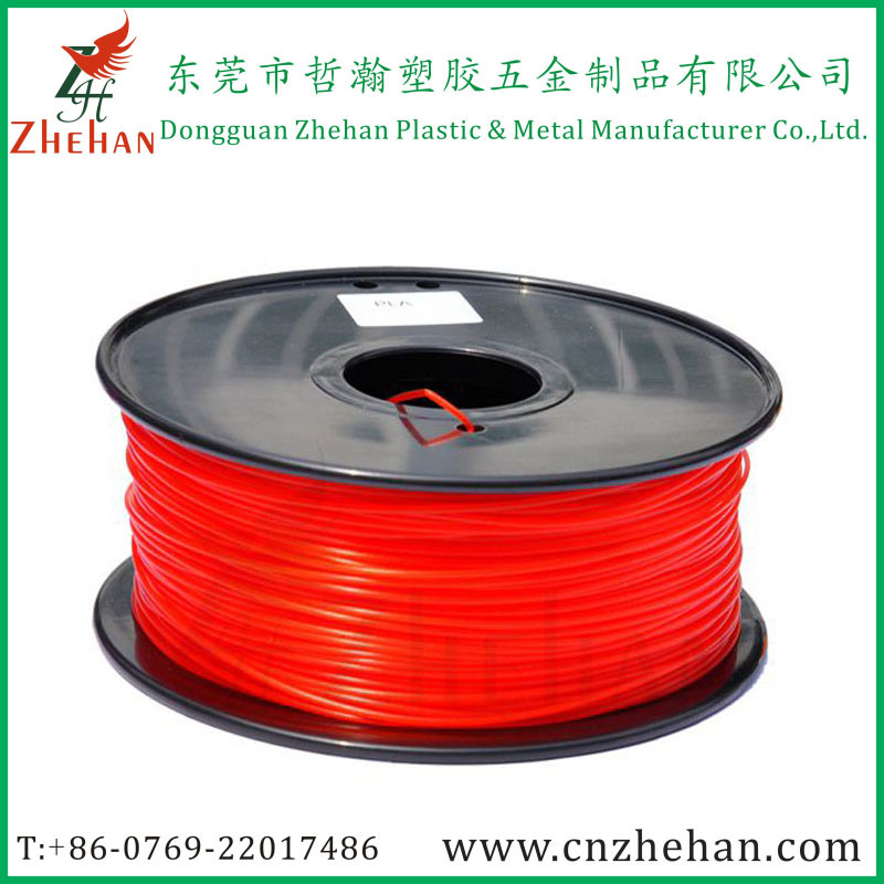 Fluorescent PLA 3D Printer Filament Red Color