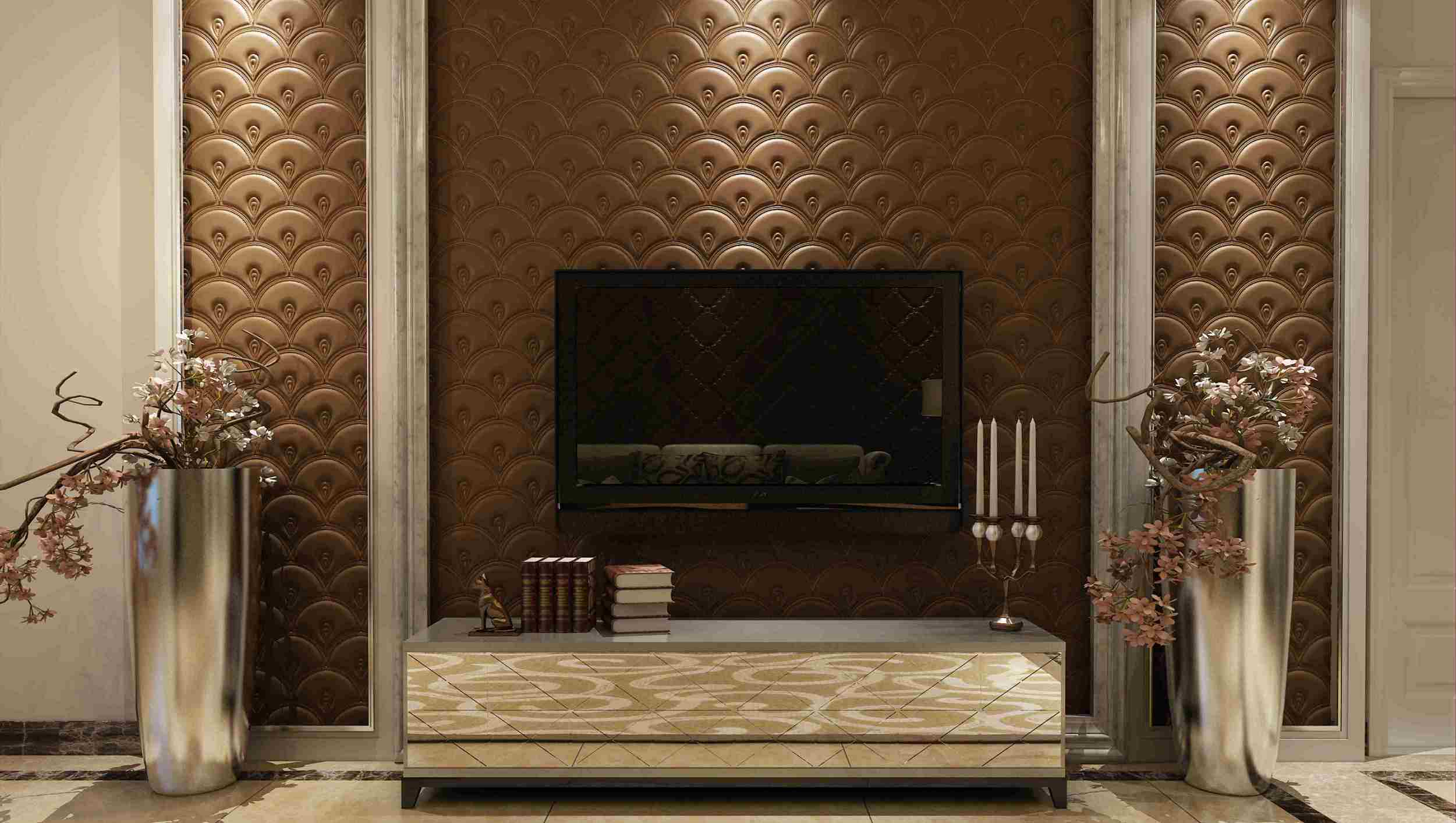 Customized Leather 3D Panel SL-013 for Indoor Wall Decoration
