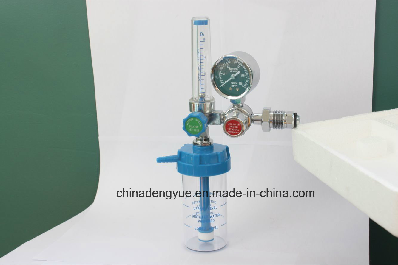 Oxygen Regulator Gas Regulator with Humidifier Medical Equipment Made in China