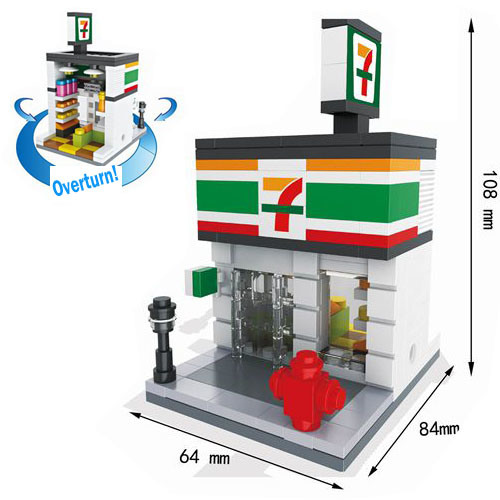 Creative Educational Toys Street Views Micro Blocks for Kids to Build Their World 10253006