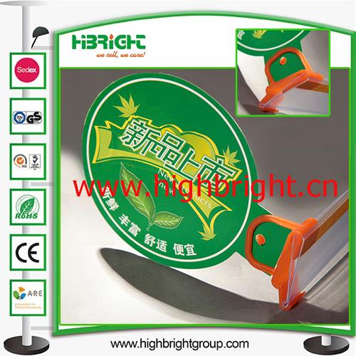 Pop Display Plastic Clip for Supermarket Shelves