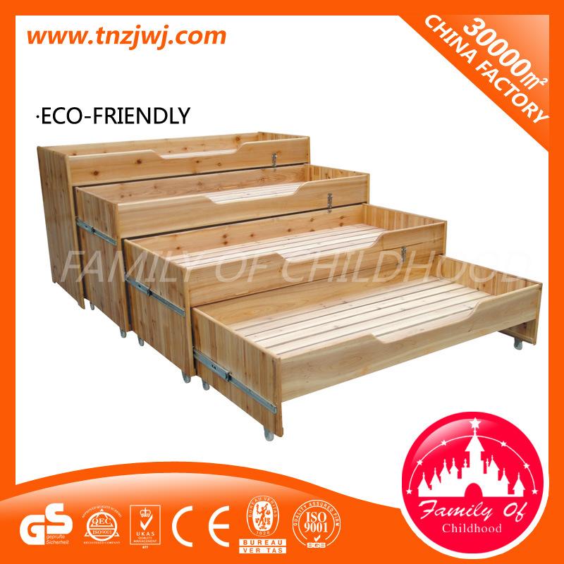 Kindergarten Four Layers Sliding Bed Wooden Classroom Furniture