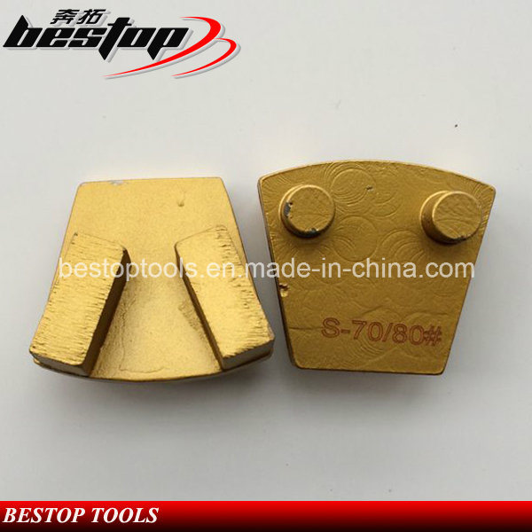 Metal Grinding Shoe Concrete Floor Trapezoid Diamond Grinding Plate