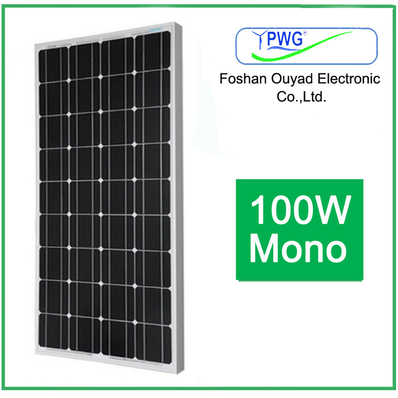 Factory Price Monocrystalline Solar Panel 100W