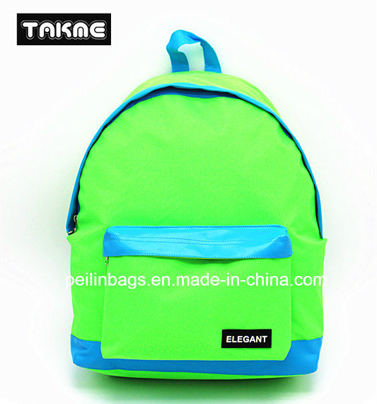 Candy Color Contrast Color Backpack Bag for School, Travel, Leisure