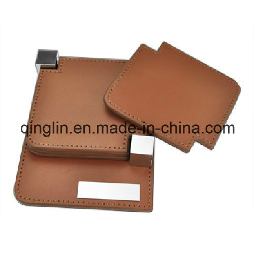 Custom Creative Design Genuine Leather Coaster (QL-BD-0002)