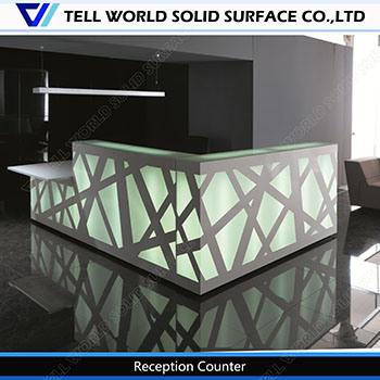led reception counter marble office front desk corian modern design reception desk acrylic lighted reception desk reception counter design