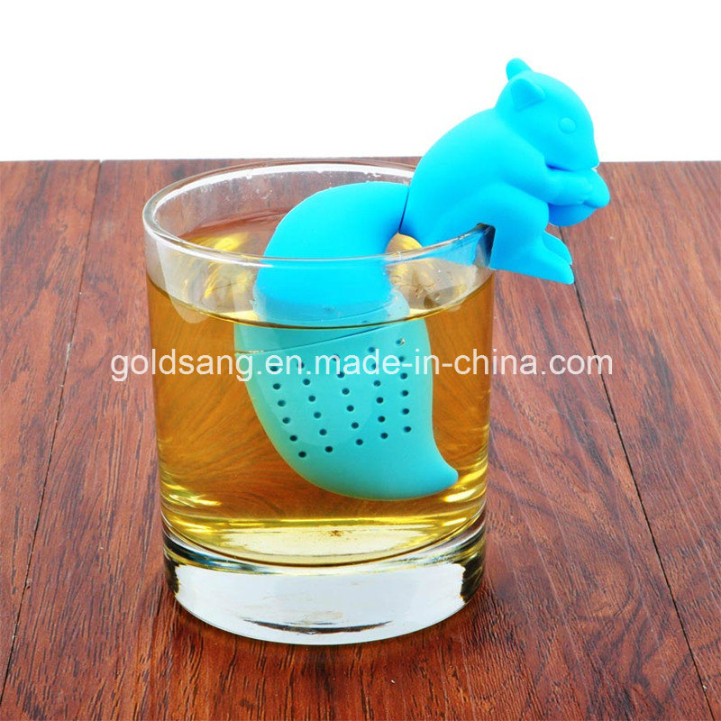 Hot Sell Newest Squirrel Shape Silicone Tea Infuser