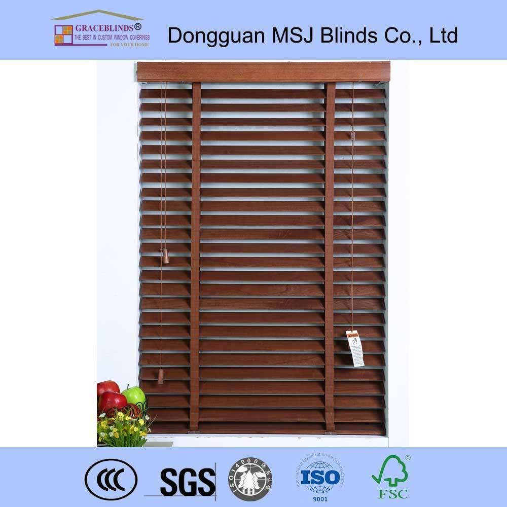 Bamboo Material Manual Type Venetian Blinds