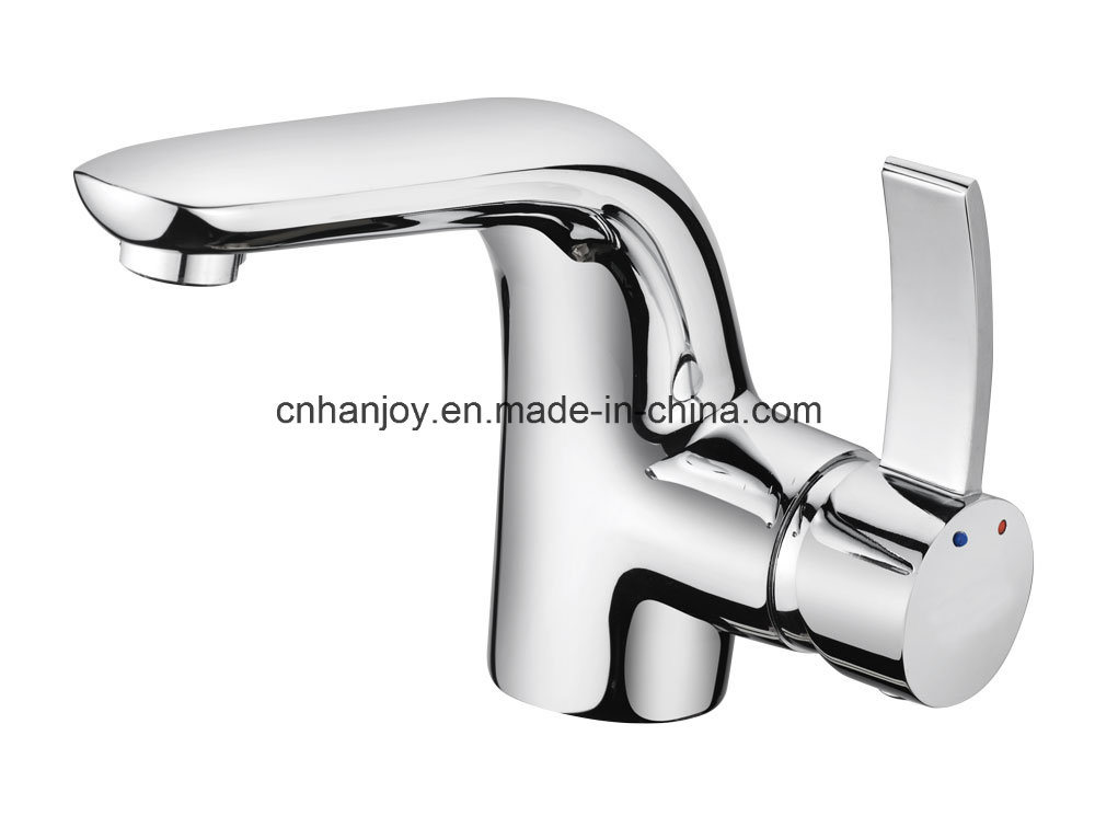 High Level Deck Mounted Single Handle Brass Basin Tap (H04-101)