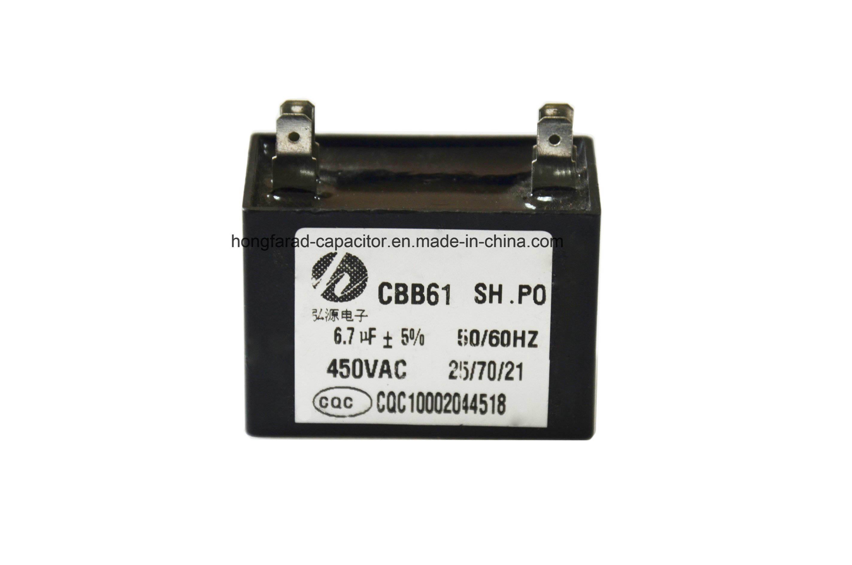 Good Quality M61 Cbb61 AC Motor Capacitor 470V, 50Hz 60Hz,