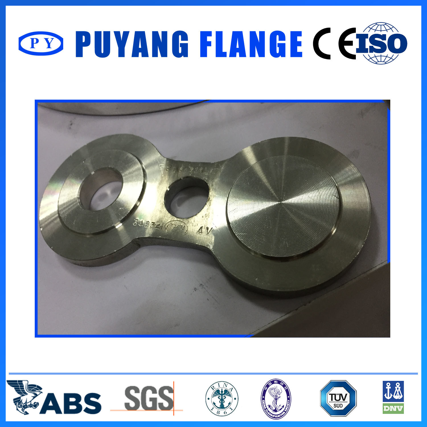 Forged stainless Steel Spectacle Blind Paddle Blind Spacer B16.48 Flange