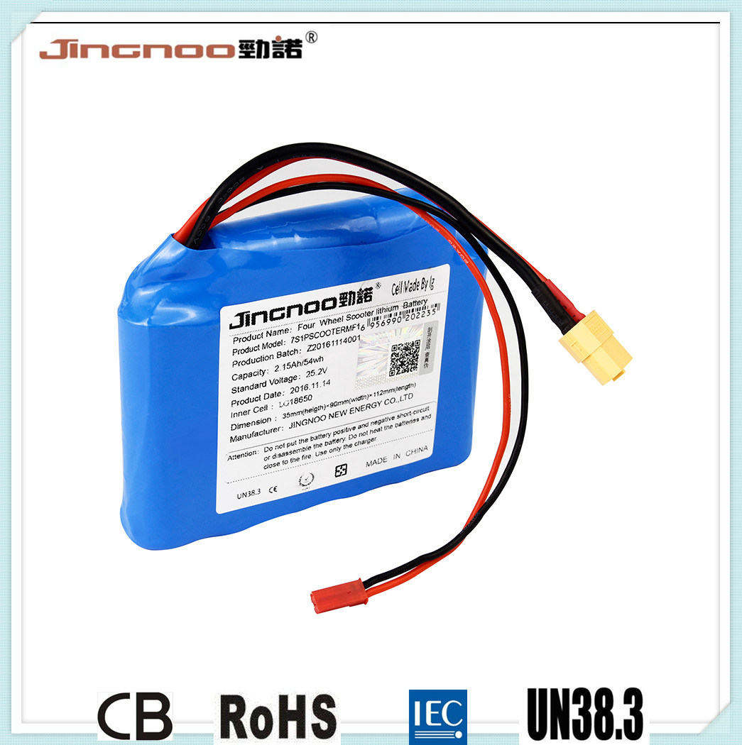 High Rate Lithium Battery Pack, 26V 2.2ah