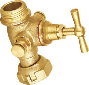 Male Thread Cartridge Connection Brass Stop Valve