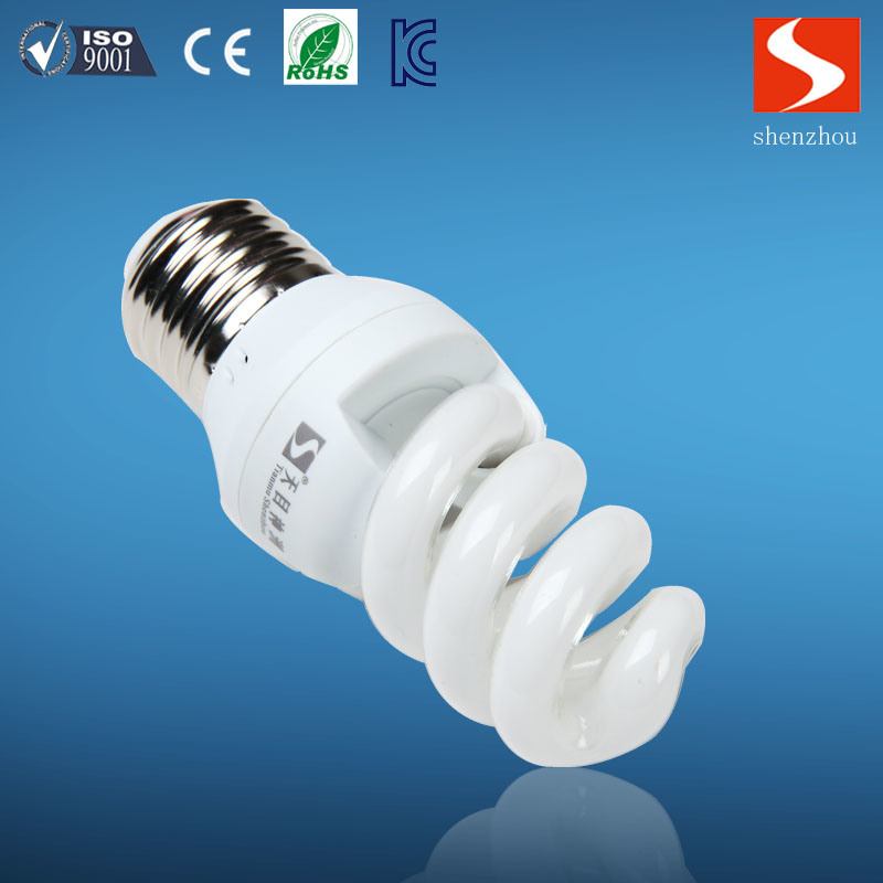E27 Full Spiral Fluorescent Lamp with Complete Certificates