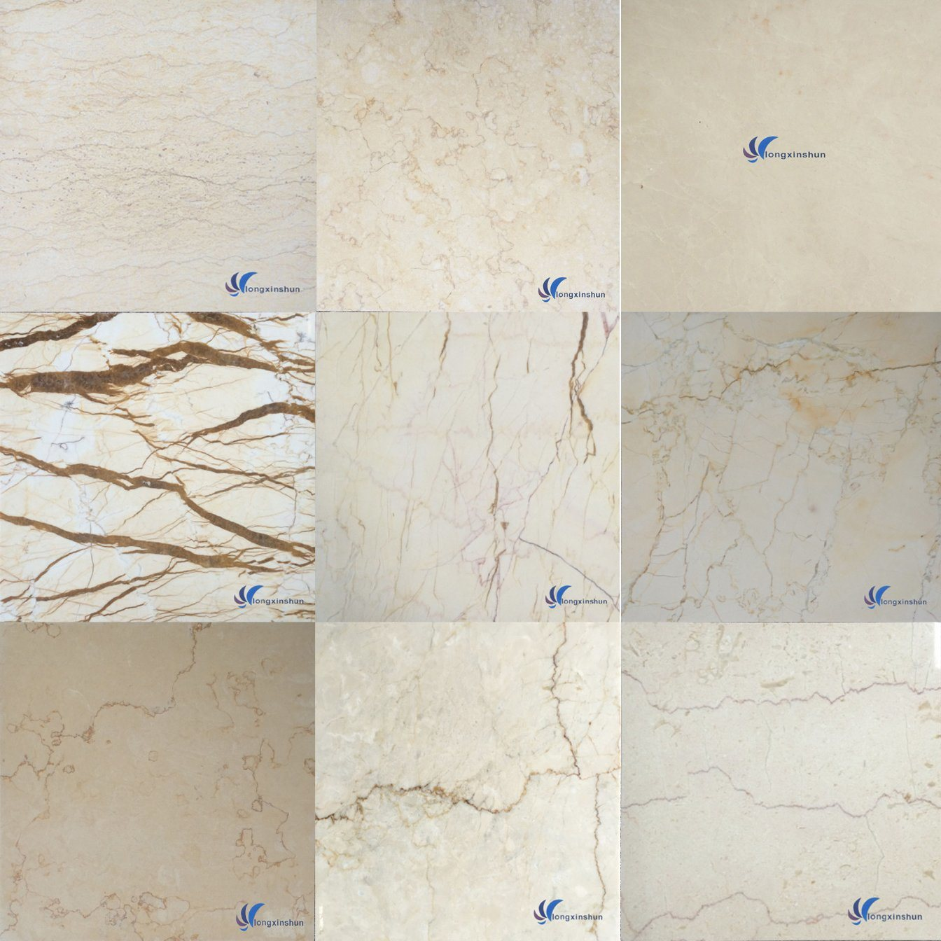 Customized Natural White Grey Beige Brown Black Stone Granite Marble