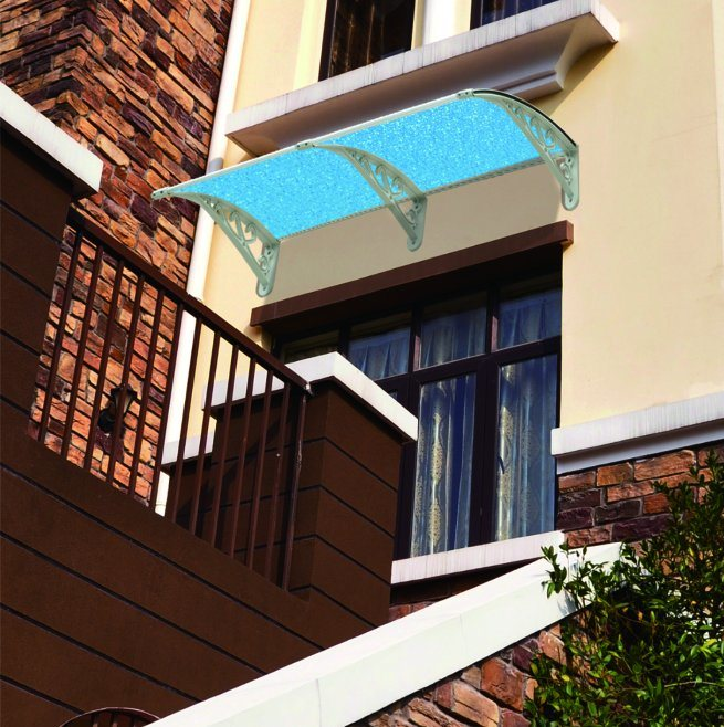 Crooked Plastic Bracket of Rain Cover Awning for Balcony