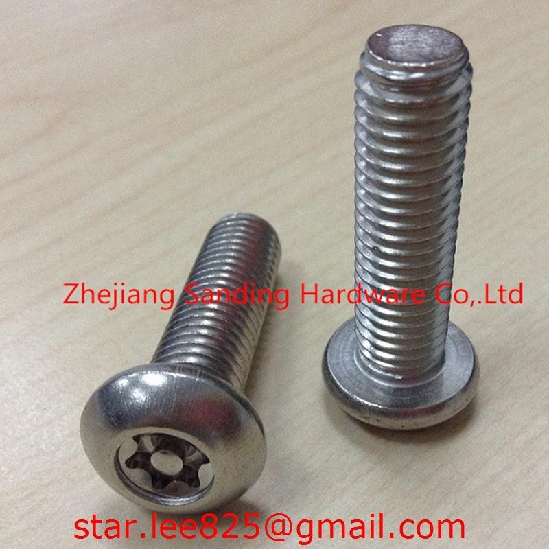 Stainless Steel 304 Anti-Theft Torx Machine Screws