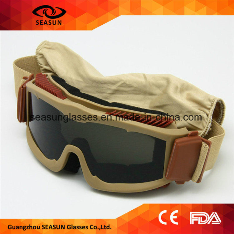 Fashion Style Airsoft Safety Glasses TPU Frame Material Safety Military Eye Glasses