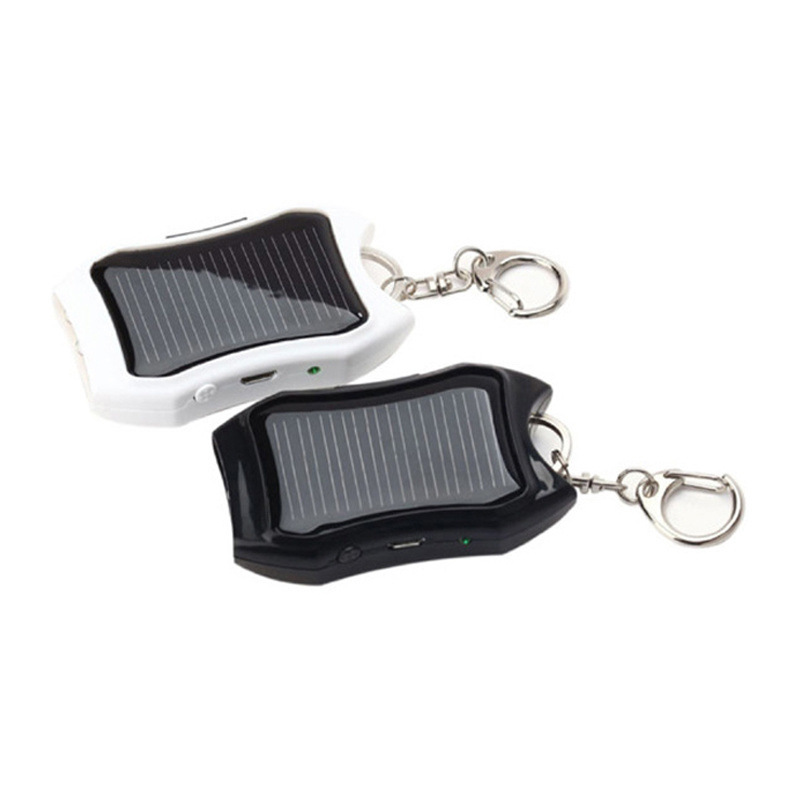 Portable Keyring Gift Solar Charger Small Pocket Power Bank for Mobile Phone