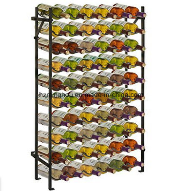 Modern Metal 60 Bottle Wine Rack Wine Display Stand for Storage