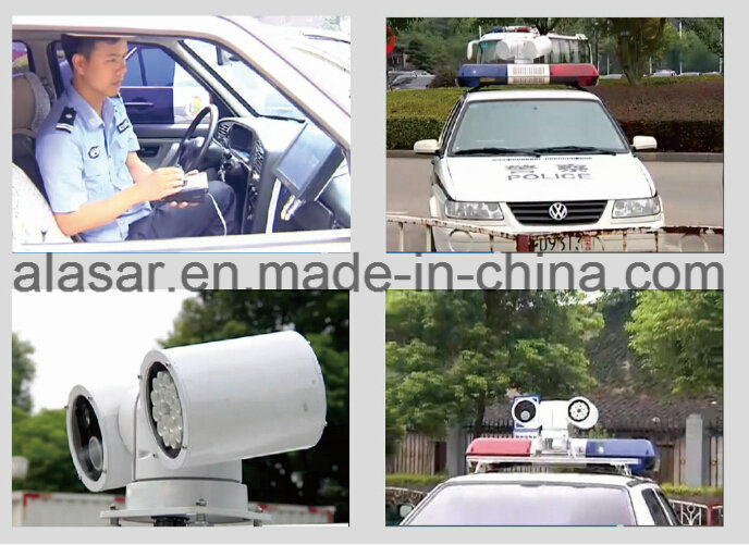 Police Vehicle License Plate Recognition System Radar PTZ Camera Mobile Police Evidence System
