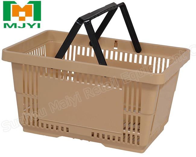 Supermarket Retail Store Convenient Plastic Shopping Basket