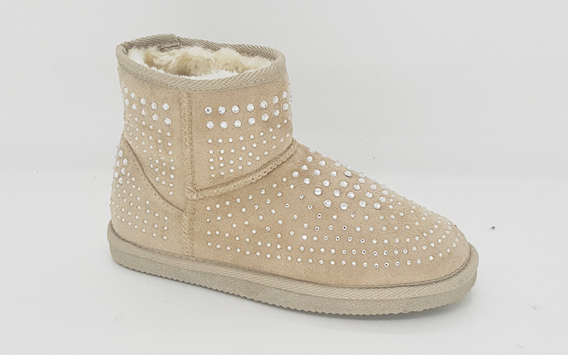 Women′s Microfiber Diamond Mini Snow Boots