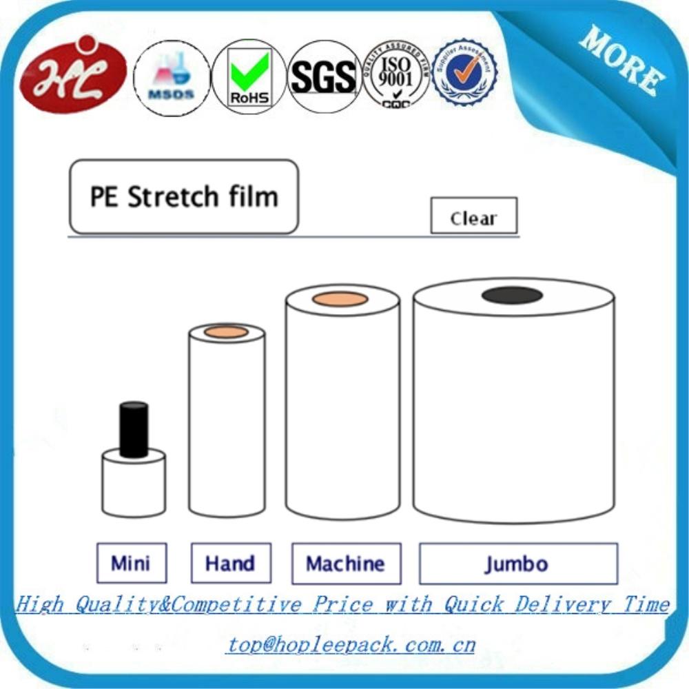 Manual Colored Stretch Rolls Bundling Stretch Film