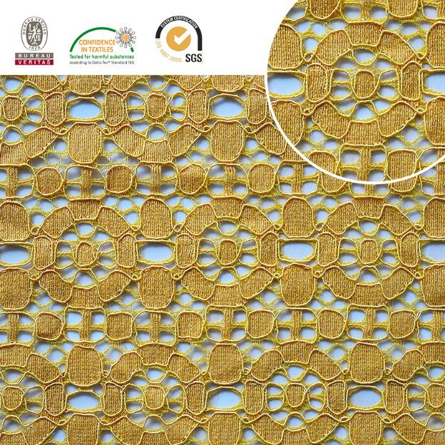2017 High Quality Embroidery Lace Fabric Polyester Trimming Fancy Melt Polyster Lace for Garments & Home Textiles Ln10043