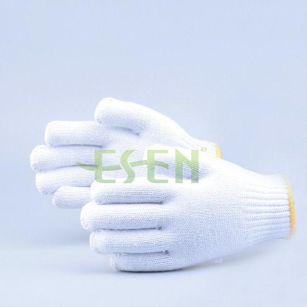 Safety Gloves Cotton Knitted Glove, High Quality Black Cotton Knitted Gloves for Industrial Work
