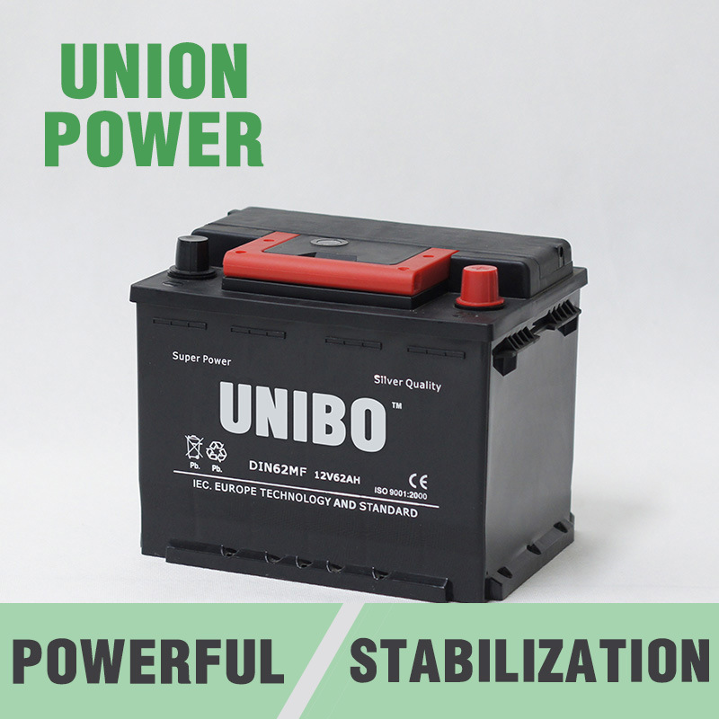 DIN62 12V62ah High Performance Maintenance Free Car Battery