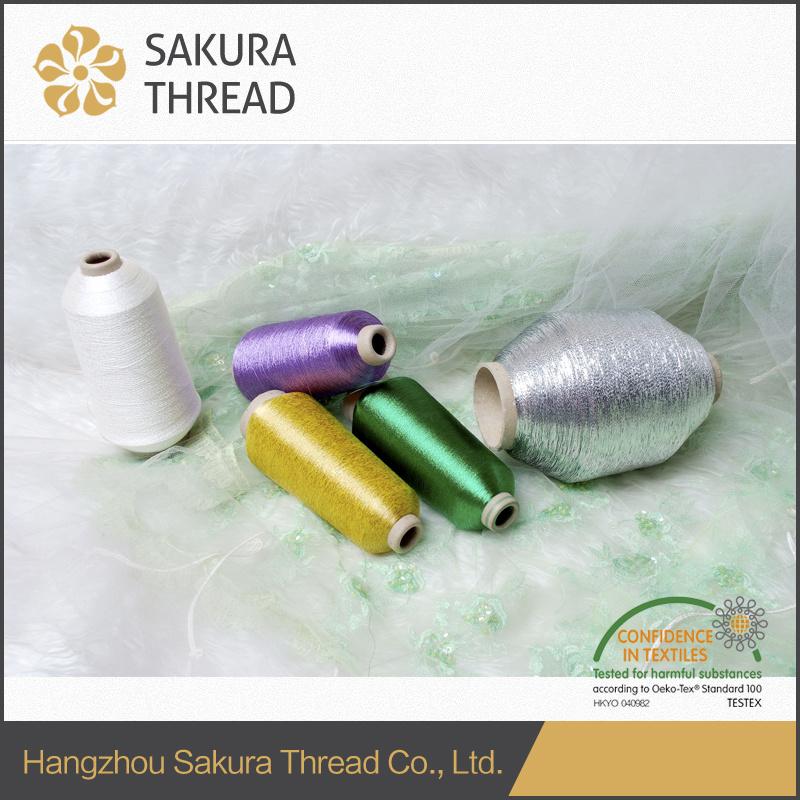 Sakura Polyester/Nylon Metallic Yarn for Embroidery/Knitting