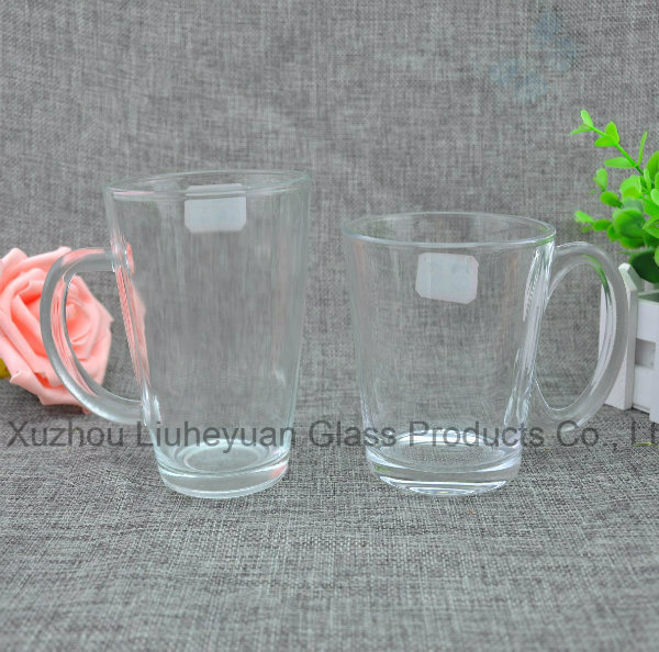 330ml Water Clear Glass Cup with Handle