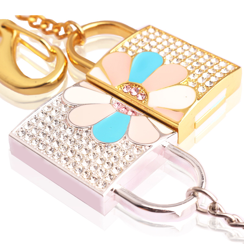 Jewelry Crystal Lock USB Flash Drive Memory Stick Promotional Gift