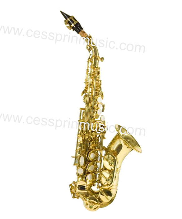 Curved Soprano Saxophone / Saxophone Manufacturer/ Woodwinds /Cessprin Music (CPSS310)