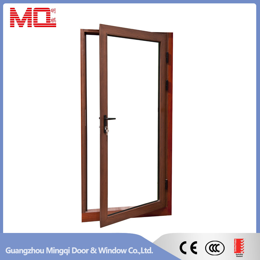 Aluminum Single Leaf Double Swing Door