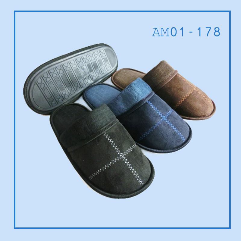 New Men Warm Soft Indoor Bedroom Slippers for Winter