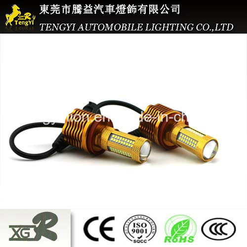 24W LED Car Light 36W Auto Fog Lamp Headlight with H1/H3/H4/H7/H8/H9/H10/H11/H16 Light Socket CREE Xbd Core