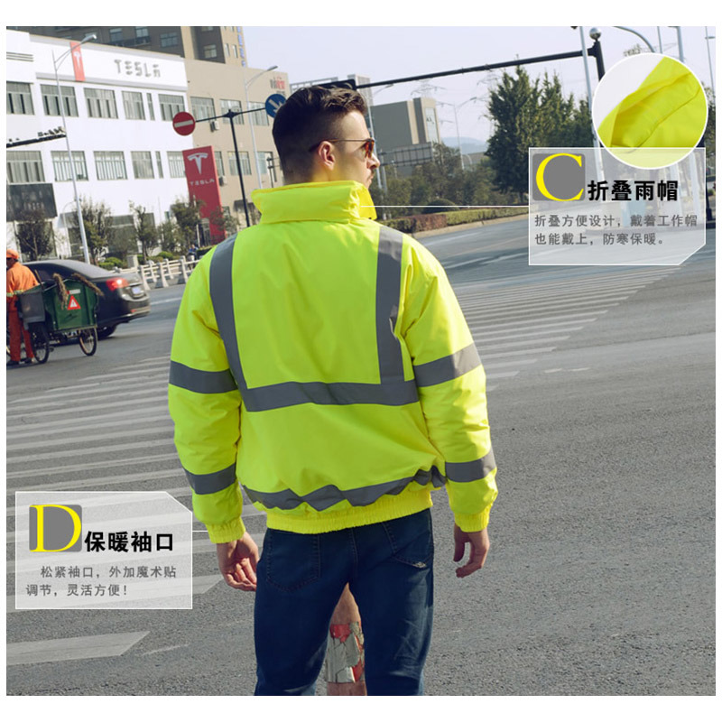 High Visibility Workwear Reflective Safety Jacket