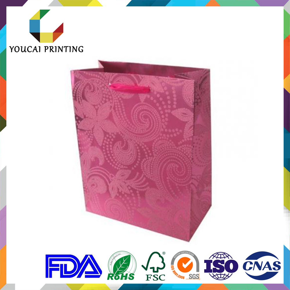 High End Coated Waterproof Graceful Paper Women Bag with Flower Pattern