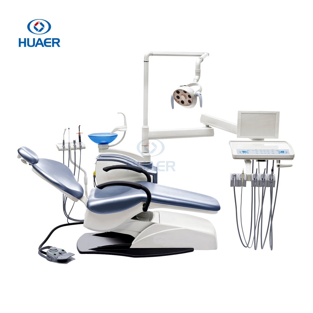 Computer Controlled Soft Leather Dental Unit Chair