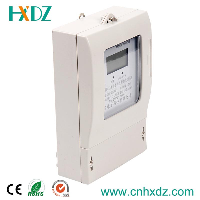 Three Phase Prepaid Watt-Hour Electricity Meter LCD Display