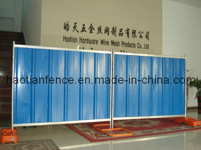 Temporary Steel Hoarding Panel, Solid Hoarding Fence Panel