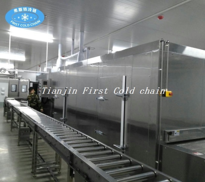 High Quality Bread Meat Seafood Ice Cream Tunnel Quick Freezer