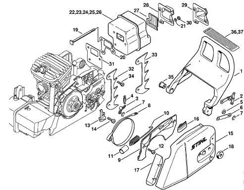 2000 Hyundai Accent Alternator Wiring Diagram additionally Craftsman Chainsaw Carburetor Fuel Line Diagram further Stihl 034 Av Parts Diagram in addition  on hyundai 210 parts diagram