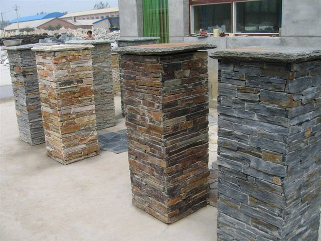Natural Stone Columns : China culture stone capstone column natural