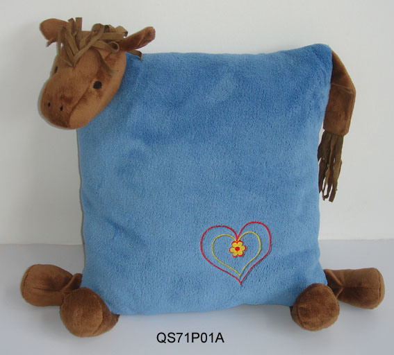 China cushion with horse shape china cushion pillow