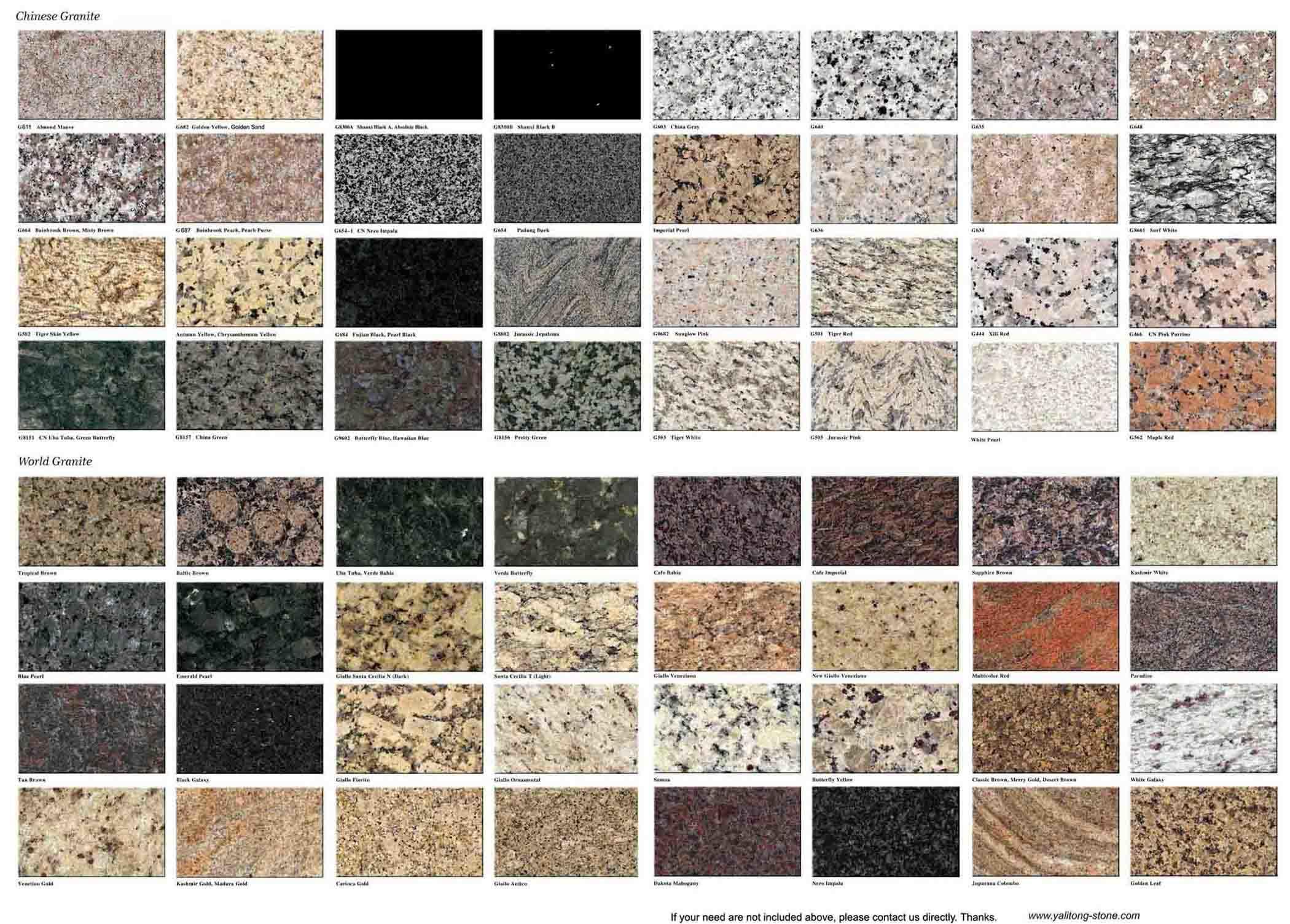 China Granite and Marble Tiles - China Granite, Marble