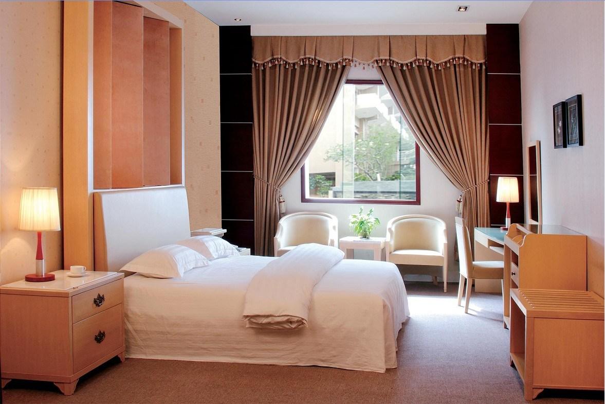 China hotel furniture bedroom furniture set headboard zh 011 china hotel bedroom set for Hospitality bedroom furniture